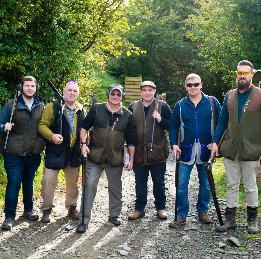 Group shooting packages Devon